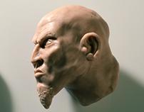 Kratos Head // Super Sculpey