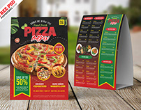 Designer Food Menu Tent Card PSD Template