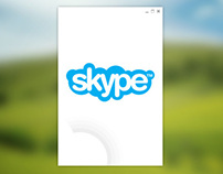 Skype Modern/Metro/Flat UI Concept