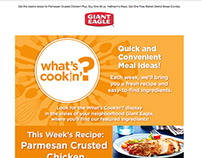 Giant Eagle What's Cookin' Recipe Promo Email