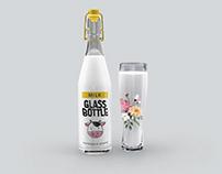 Milk Glass Bottle Mockups