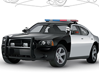 Police Dodge Charger Vector