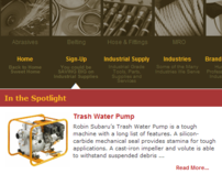 Industrial products online catalog built on WordPress