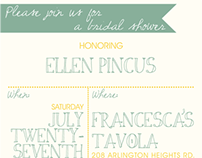 Invitation- Bridal Shower