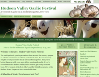 Hudson Valley Garlic Festival Web site redesign