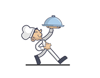 Chef Walks - Animated Gif