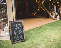 Wedding Sign Writing