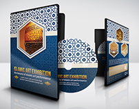 Islamic Art Exhibition DVD Cover and Label Template