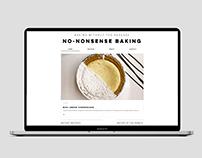 No-Nonsense Baking Web Design