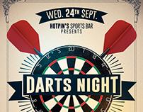 Darts Night Flyer Template