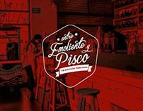Logotipo Restobar  Entre Emoliente y Pisco