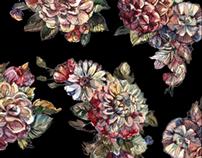 Dark Romance floral pattern