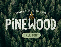 PINEWOOD - FREE HANDPAINTED RUSTIC SANS SERIF