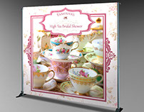 High Tea Bridal Shower Photo Backdrop