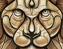 Lion linework