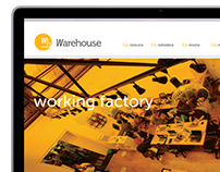 Warehouse. Coworking factory