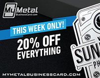 Black Friday 20% OFF Metal Business Cards + FREE Gifts!
