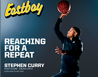 Headline on front page for Steph Curry 2015