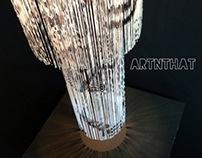 Lampshade - Printed Fringing