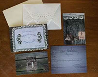 Wood & Lace Doily Wedding Invites