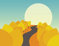 Autumn Mountains - Poem Ilustration