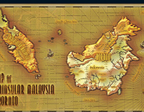 Map of Peninsular Malaysia & Borneo