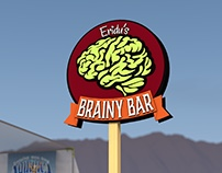 Brainy Bar Logo & Sign