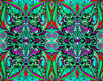 Fiesta Textile Design Colour Variations