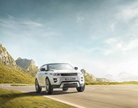 Land Rover photography and Creative Retouch