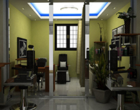 Hair Takers Barber Shop Interior Concept