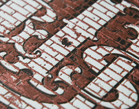 Urban Typography Project Letterpress Prints