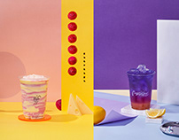 Drinks, geometric and colour