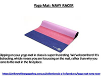 Yoga Mat: NAVY RACER