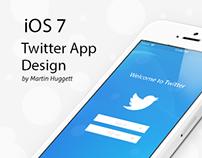 iOS 7 Twitter App Design