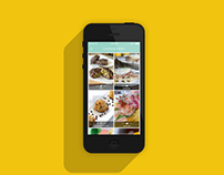 Caveman Feast iOS App using iOS 7 native