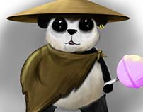 Panda Warrior - Digital Painting