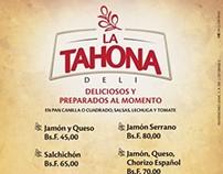 La Tahona - Menu (Sandwiches)