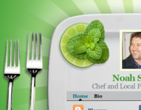 Online Business Card and Professional Portal for Chef