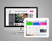 Alzheimer site & app design