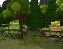 2 Tanks low poly