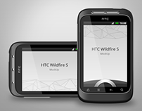 HTC Widfire S Smartphone Mock-up