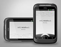 HTC Widfire S Smartphone Mock-up