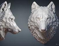 Wolf head. 3d model