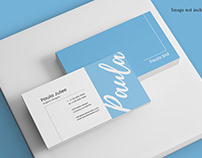 Realistic View Display Business Card Mockup