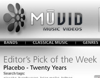 Music Video website design proposal