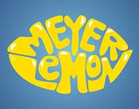 Hand Lettering: Meyer Lemon