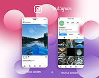 Instagram page with glass morphism