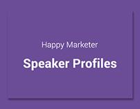 Speaker Profiles