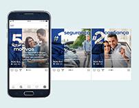 """Posts Mídias sociais do Grupo Abrão Reze """"5 Motivos..."""""""