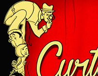 Production poster for Curtains.
